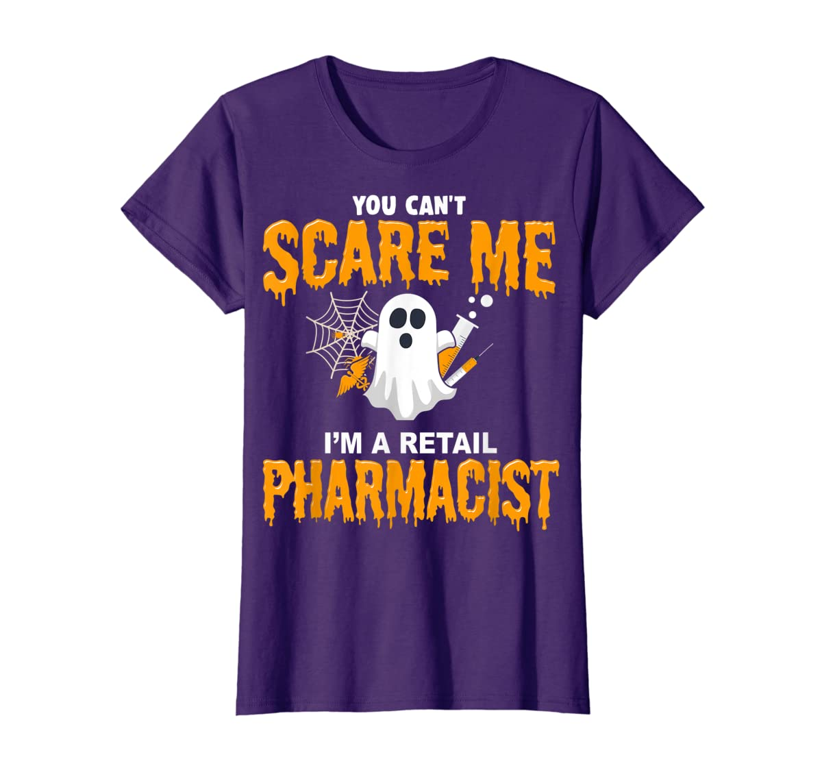 Halloween Costume Shirt I'm A Retail Pharmacist  T-Shirt-Women's T-Shirt-Purple