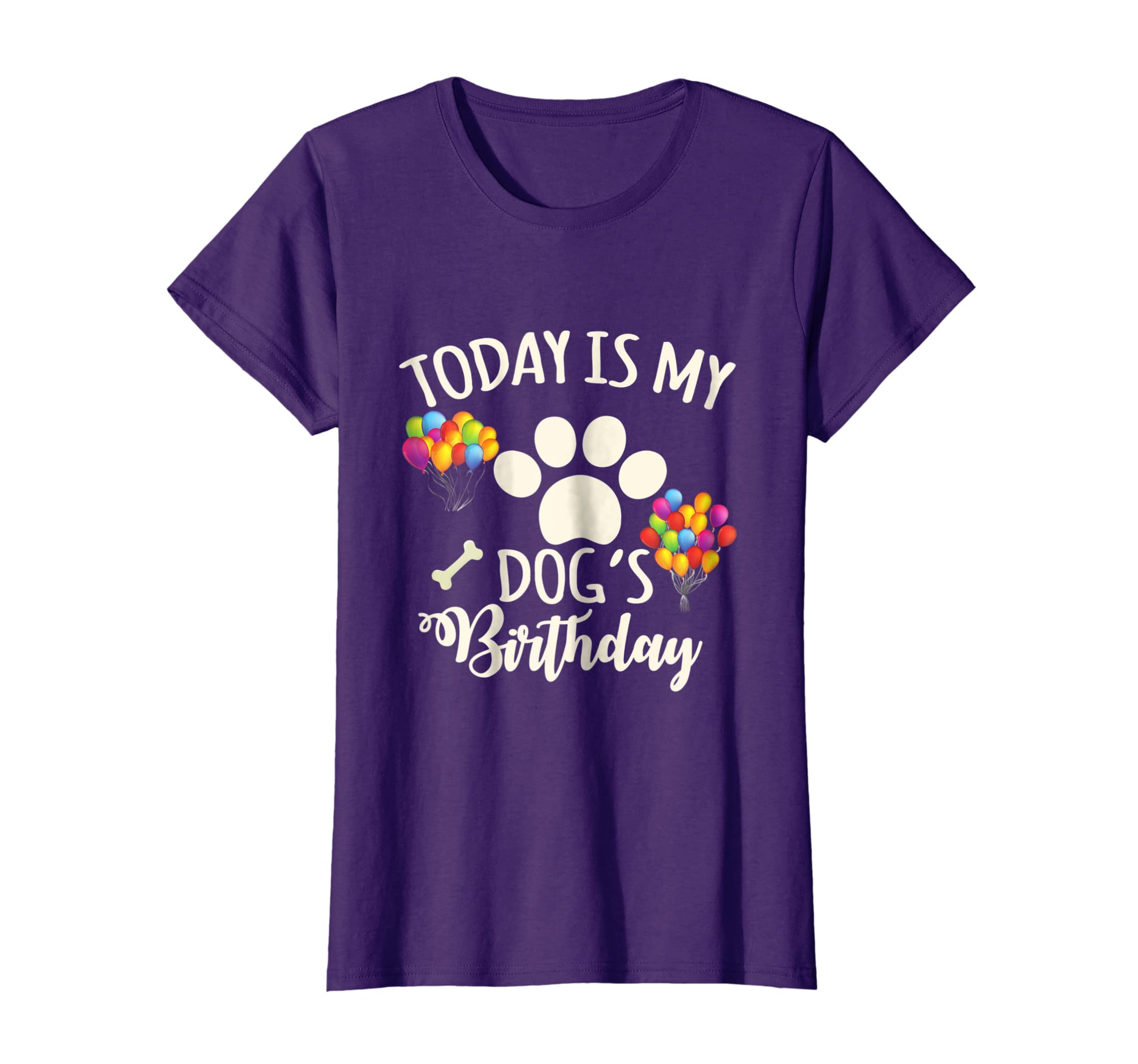 eb2ed6b5e8ad Amazon.com: Today is My Dog's Birthday Shirt - Dog Lover T-Shirt: Clothing