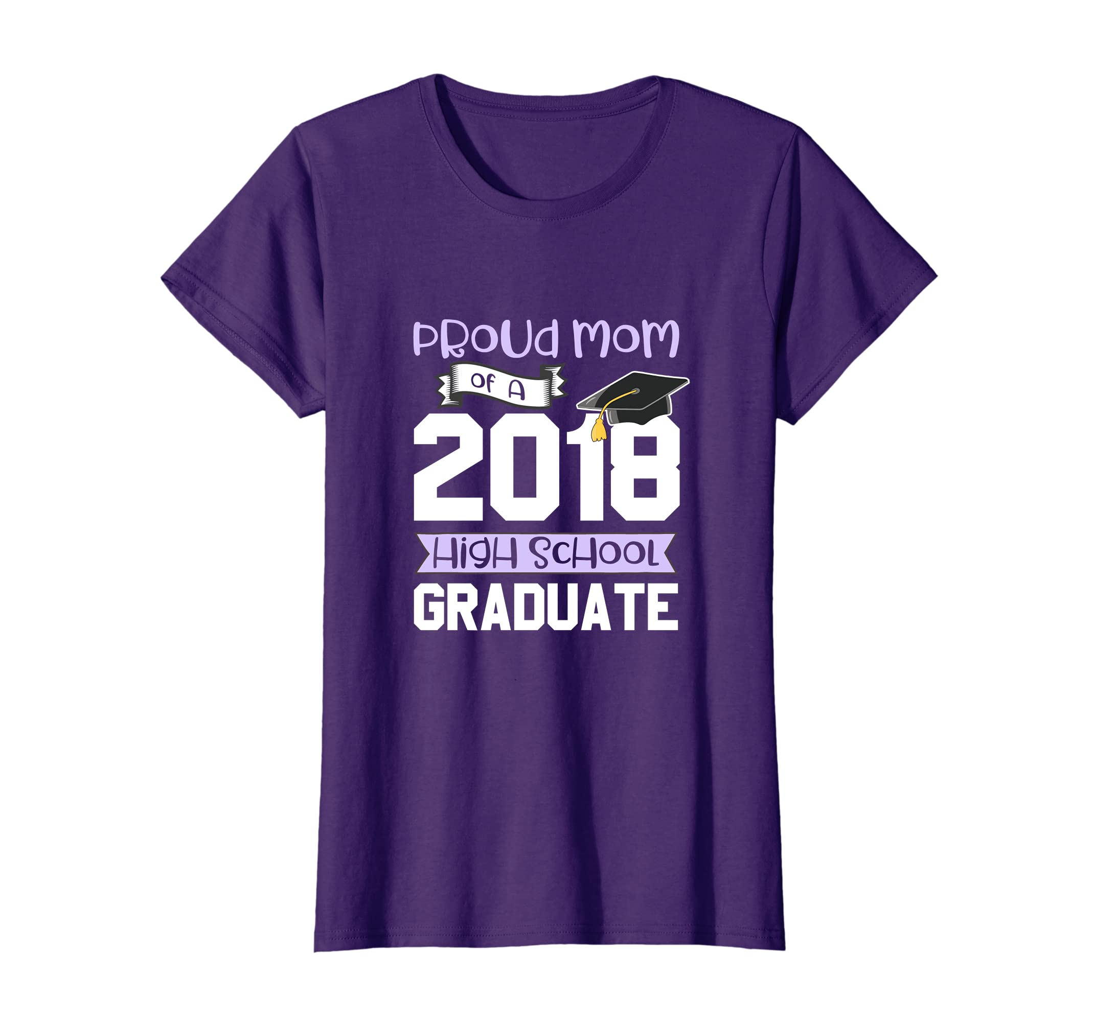 15c3b7938 Amazon.com: Graduation Shirts For Family 2018 Proud Mom High School Tee:  Clothing