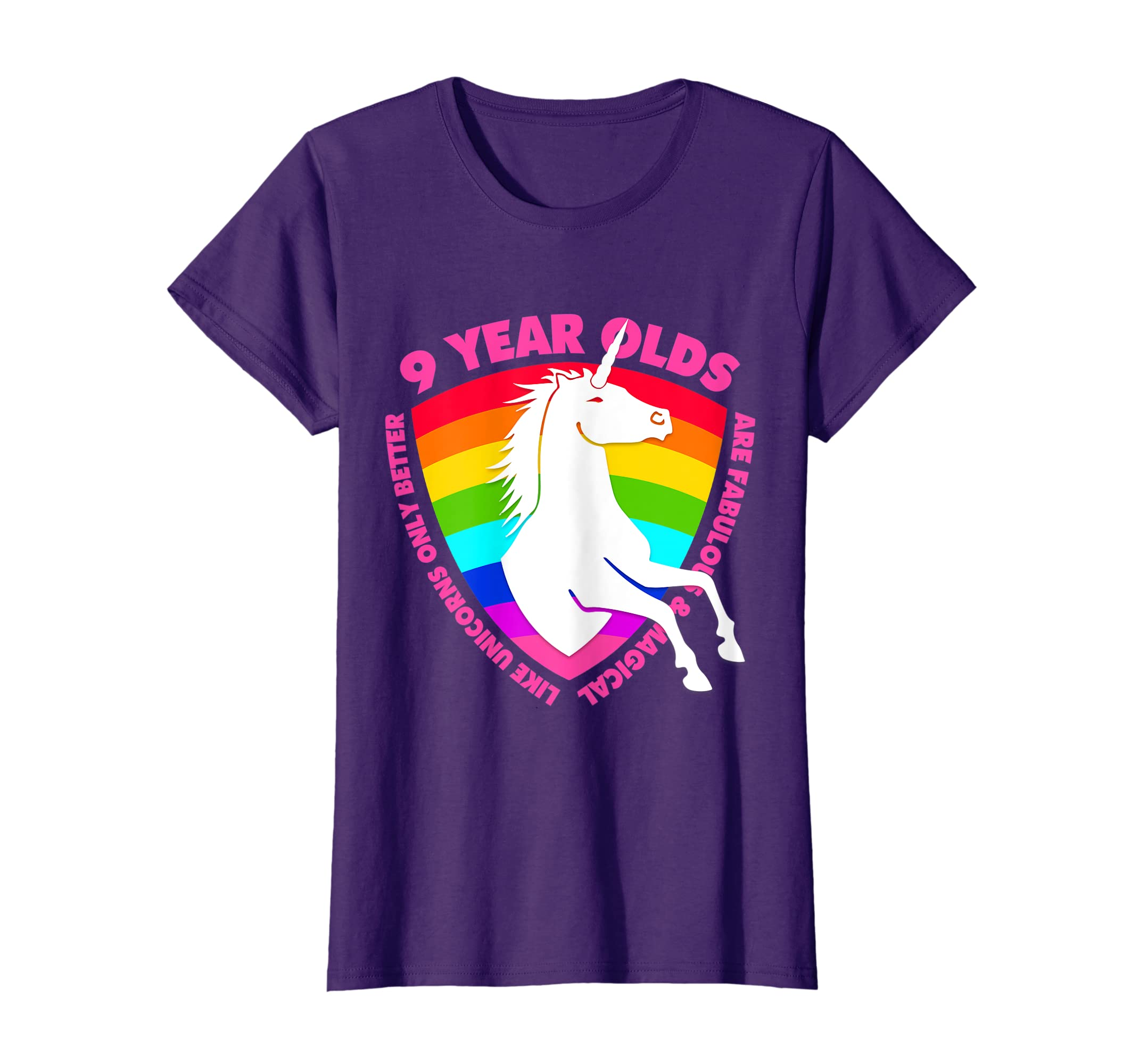 Amazon Unicorn 9th Birthday Shirt For Girls 9 Year Old BDay Gifts Clothing