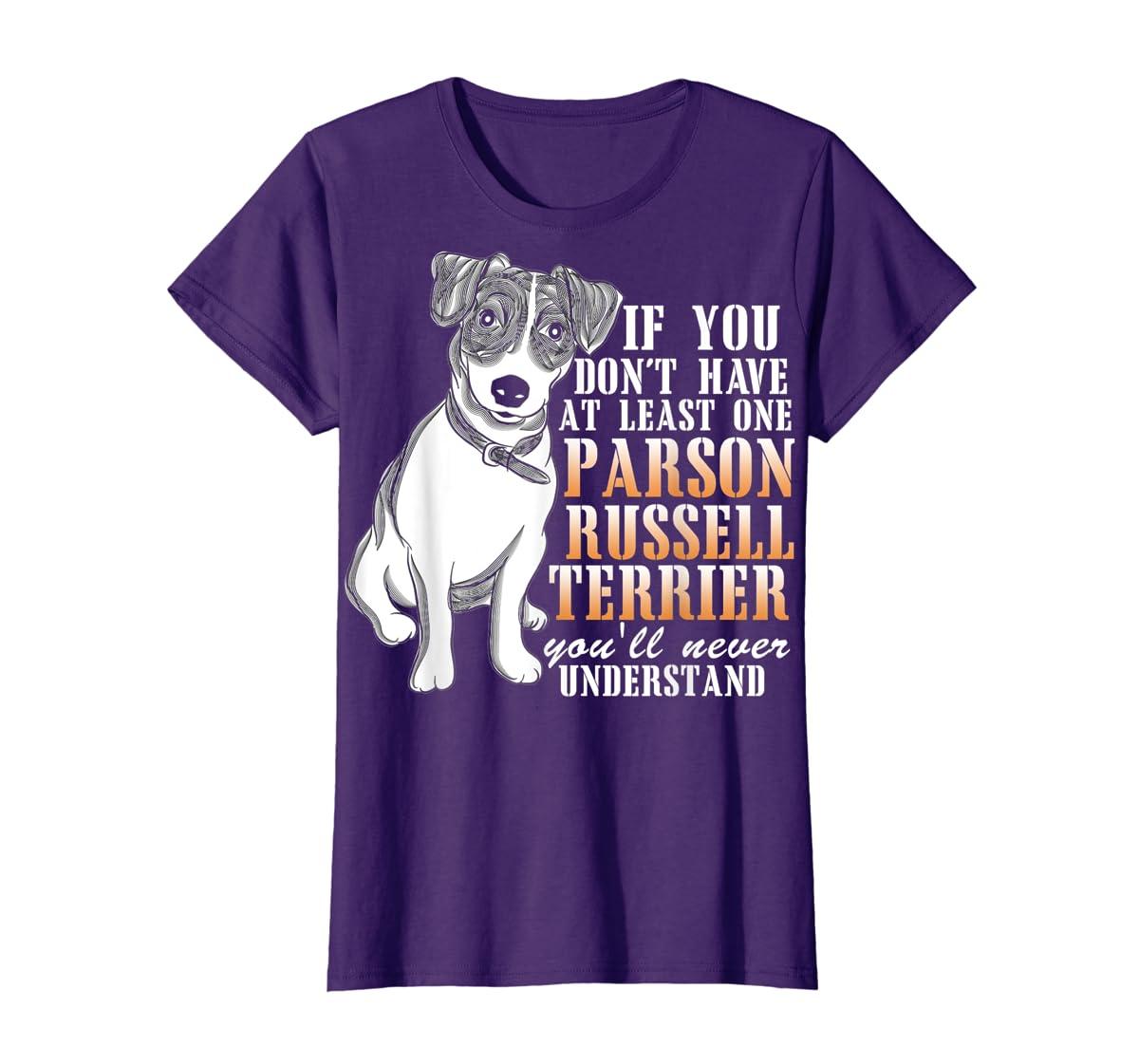 Parson Russell Terrier T Shirt, I Love My Dog T Shirt-Women's T-Shirt-Purple