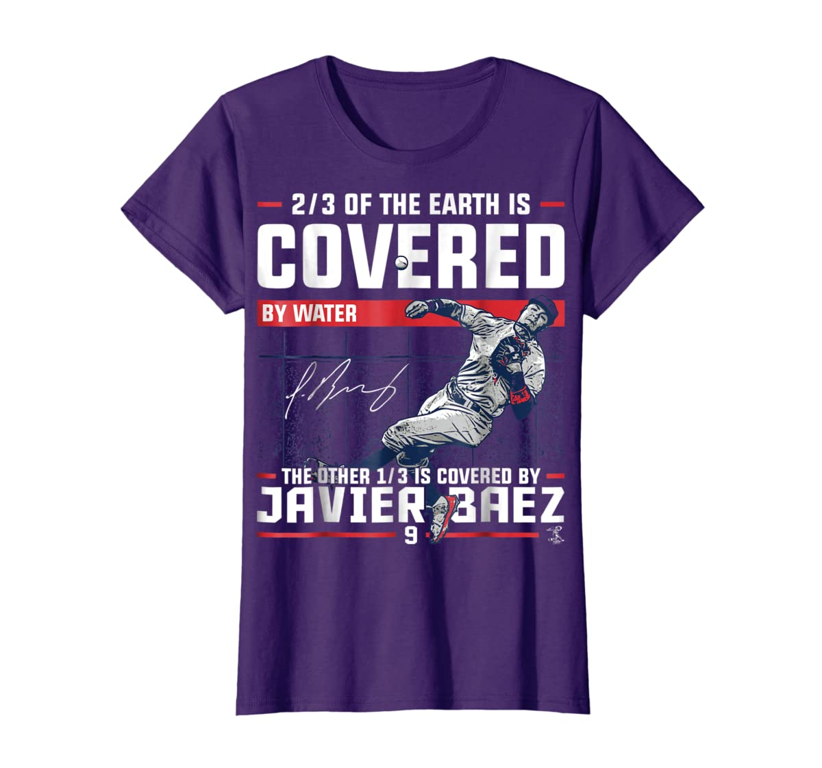 Javier Baez Covered By T-Shirt - Apparel-Women's T-Shirt-Purple