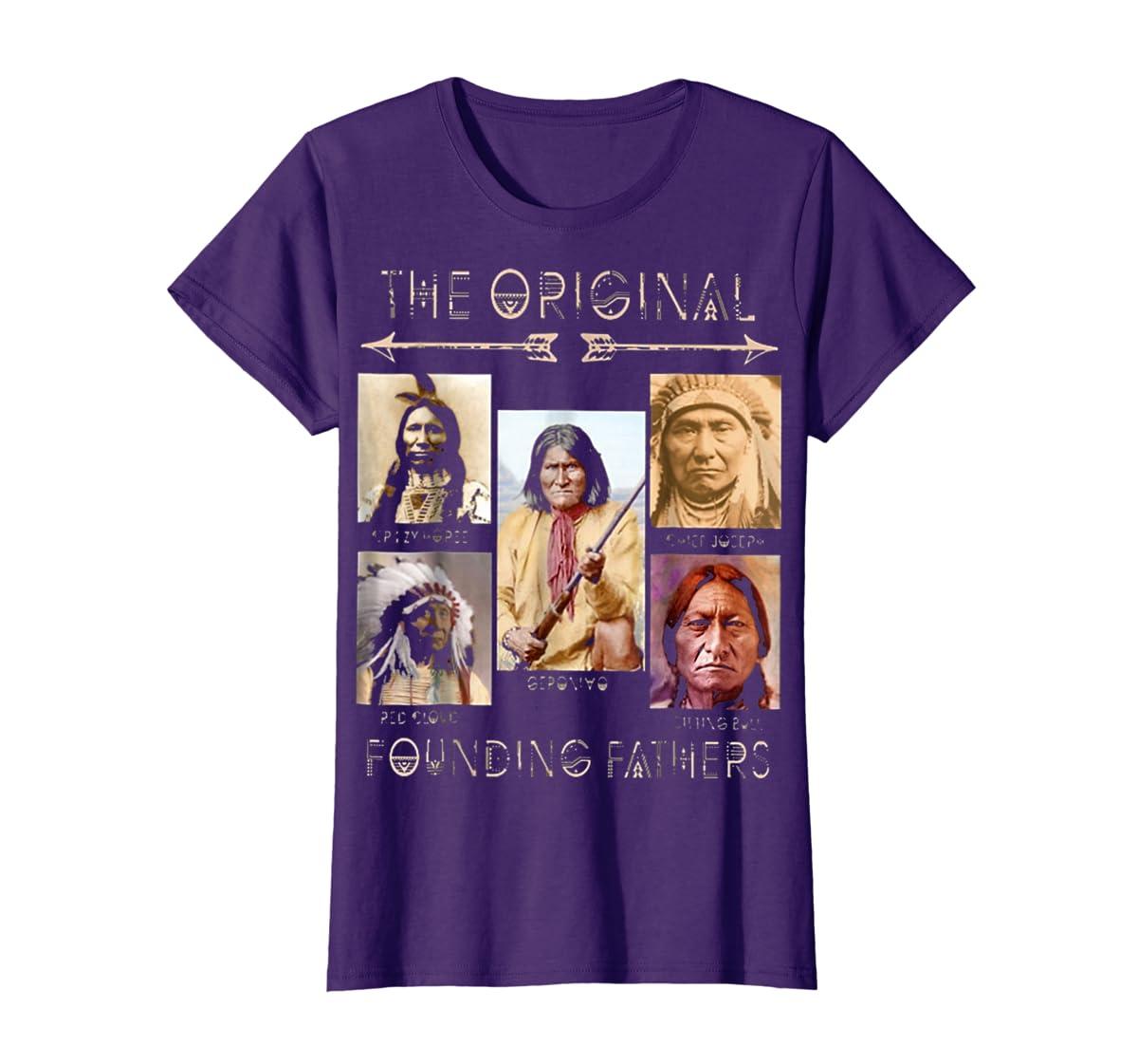 the original founding fathers native classic shirt-Women's T-Shirt-Purple