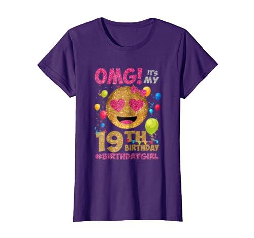 Amazon Its My 19th Birthday Tshirt 19 Years Old Gift Girl Clothing