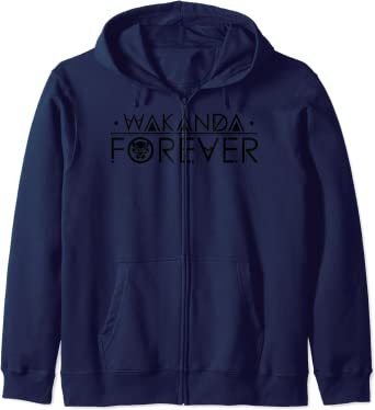 Marvel Black Panther Wakanda Forever Chest Sweat à Capuche
