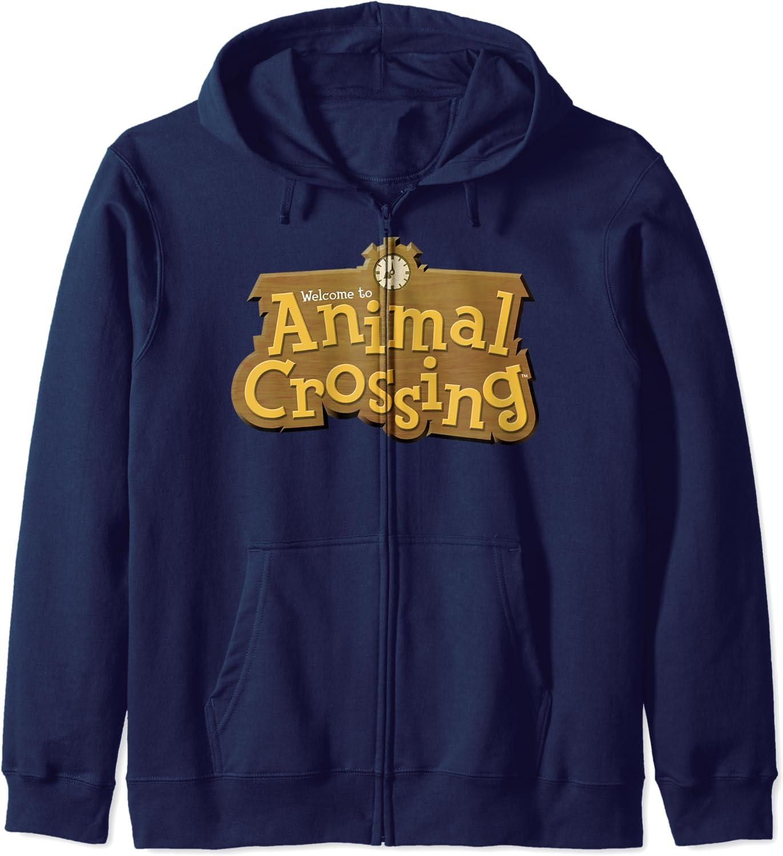 Animal Crossing Title Hoodie Zip Logo Inventory cleanup selling sale 2021
