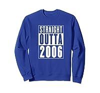 Straight Outta 2006 Cool Birthday Gift Shirts Sweatshirt Royal Blue