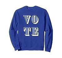 Vote (retro-style) T-shirt Sweatshirt Royal Blue