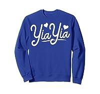 Yiayia For Yiayia Birthday Gifts Cute Yiayia Shirts Sweatshirt Royal Blue