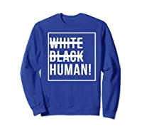 Black Human Shirts Sweatshirt Royal Blue