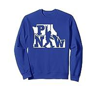 Rock And Roll Silhouette Pacific Northwest Sasquatch T-shirt Sweatshirt Royal Blue