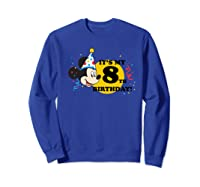 Mickey Mouse 8th Birthday Shirts Sweatshirt Royal Blue