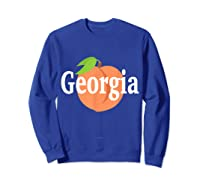 Georgia Peach State Pride Southern Roots T Shirt Sweatshirt Royal Blue