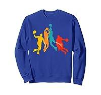 Basketball Vintage Bball Basketball Player Dunk Sport Gift Shirts Sweatshirt Royal Blue