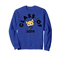 Aggretsuko Class Of 2019 Graduation Graduate T-shirt Sweatshirt Royal Blue