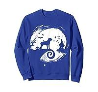 Cane Corso Halloween Costume Moon Silhouette Creepy T-shirt Sweatshirt Royal Blue