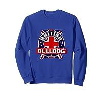 British Bulldog Flag Graphic Shirts Sweatshirt Royal Blue
