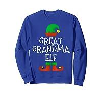 Great Grandma Elf Christmas Funny Xmas Gift Shirts Sweatshirt Royal Blue