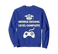 Funny Middle School Graduation Video Gamer Tshirt Sweatshirt Royal Blue