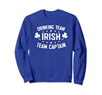 Irish Drinking Team, Team Captain T-shirt Sweatshirt Royal Blue