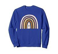 Rainbow Mama Tea Gifts Good Vibes Pastel Boho Retro Shirts Sweatshirt Royal Blue