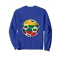 Lithuania Flag Soccer Ball Team Fan Shirt Sweatshirt Royal Blue