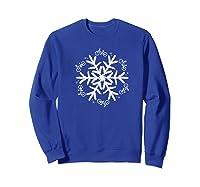 Cycling Christmas Snowflake Pattern Shirts Sweatshirt Royal Blue