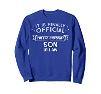 Favorite Son In Law Novelty Gifts Shirts Sweatshirt Royal Blue