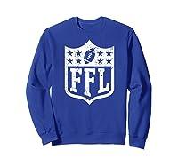 Fantasy Football Retro Distressed Ffl Logo Champion Gift Shirts Sweatshirt Royal Blue