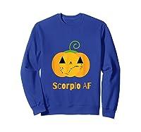 Scorpio Af Zodiac Constellation T-shirt Sweatshirt Royal Blue