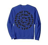 Marvel Captain America Shield Text Fill Logo T-shirt Sweatshirt Royal Blue