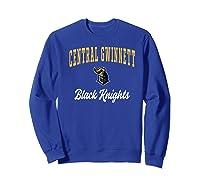 Central Gwinnett High School Black Knights Shirts Sweatshirt Royal Blue