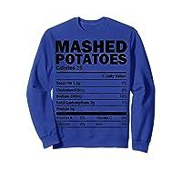 Mashed Potato Nutrition Funny Matching Christmas Costume Shirts Sweatshirt Royal Blue