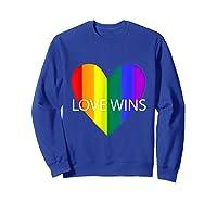 Gay Pride Lesbian Bisexual Transgender Shirts Sweatshirt Royal Blue