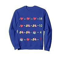 Order Of Operations Quiz Funny Valentine Math Tea Shirts Sweatshirt Royal Blue