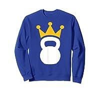 Kettlebell Crown T-shirt Sweatshirt Royal Blue