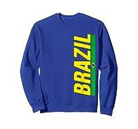 Brazil T-shirt Brazilian Flag Brasil Gift Souvenir Camiseta Sweatshirt Royal Blue