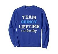 S Team Quincy Groom Squad Custom Bachelor Party Wedding T-shirt Sweatshirt Royal Blue