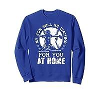 Baseball Mom Apparel Baseball Dad Merchandise Premium T-shirt Sweatshirt Royal Blue