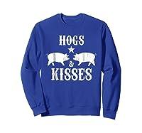 Kisses Graphic Shirts Sweatshirt Royal Blue