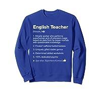 English Tea Definition Meaning Funny T-shirt Sweatshirt Royal Blue