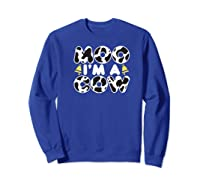Moo I'm A Cow With Bell Funny Animal Halloween Costume Humor Shirts Sweatshirt Royal Blue