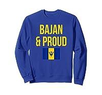 Bajan Proud Barbados Flag Caribbean Shirts Sweatshirt Royal Blue