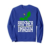 Brother Dragon Christmas Shirt Matching Family Tribe Son Boy T-shirt Sweatshirt Royal Blue
