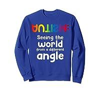Special Needs Tea Student Gift Autism Awareness Month Shirts Sweatshirt Royal Blue