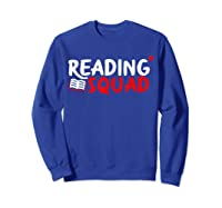 Book Reading Bookworm Librarian Library T-shirt Sweatshirt Royal Blue