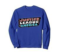 Justice League Logo Jla Classic 01 Shirts Sweatshirt Royal Blue