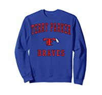 Terry Parker High School Braves T-shirt Sweatshirt Royal Blue