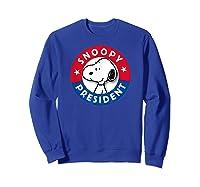 Peanuts Snoopy For President Shirts Sweatshirt Royal Blue