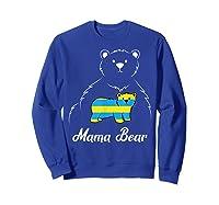 Down Syndrome Mom Awareness Trisomy 21 Gold Blue Ribbon Gift T-shirt Sweatshirt Royal Blue